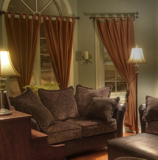 Brown curtain for living room