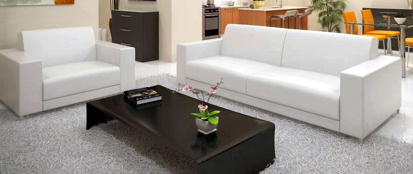 white leather sofa for living ....