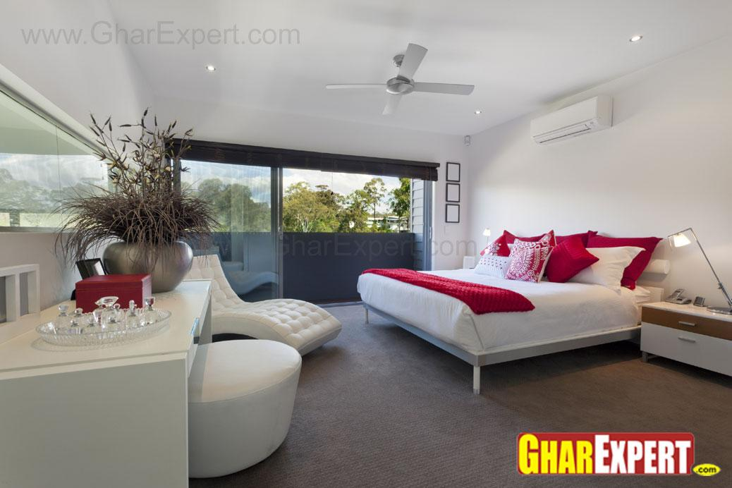 bedroom in large area with mod....
