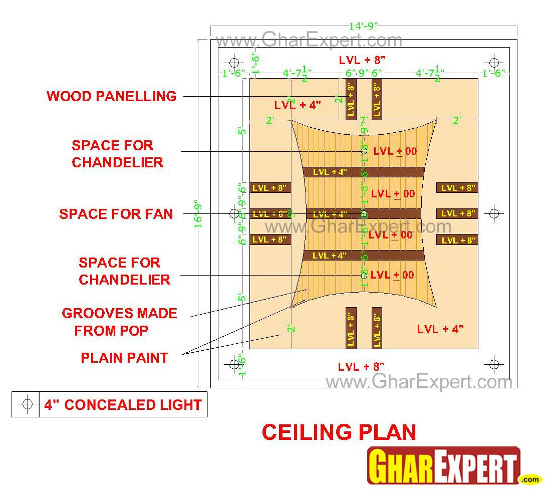 POP groove false ceiling with ....