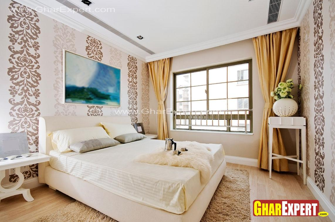 Indo classical modern bedroom