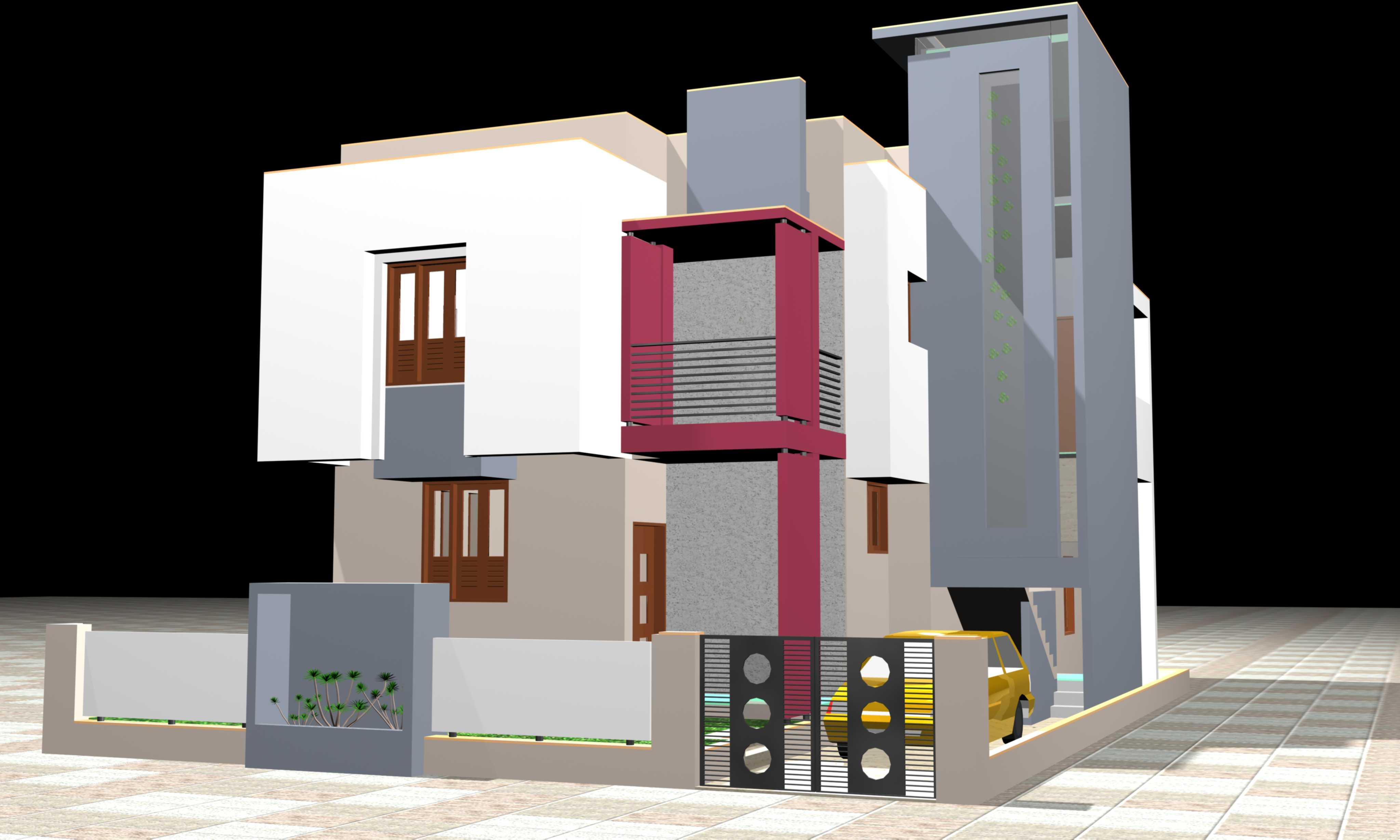 3D view of residential buildin....