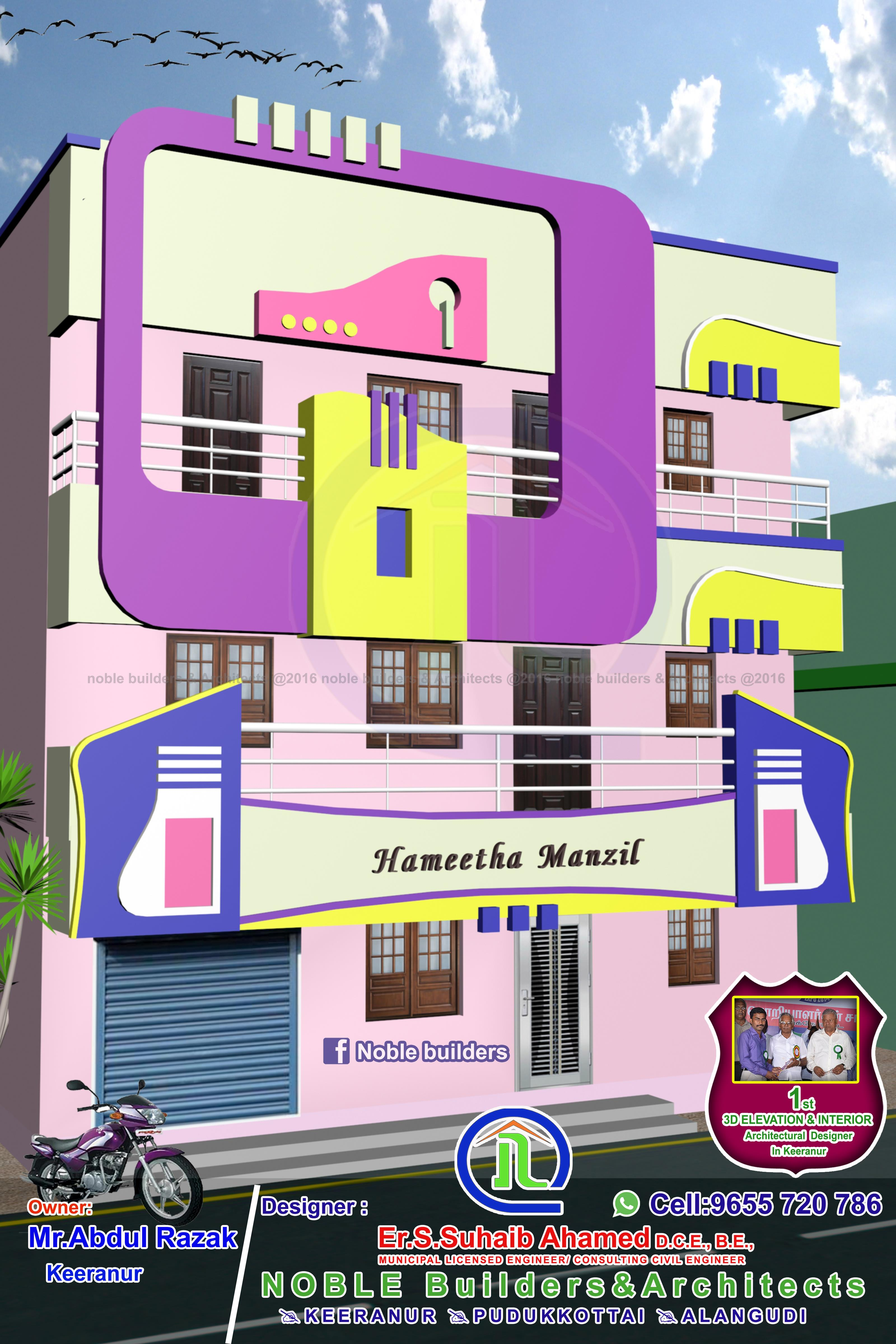 3story Residential Apartment