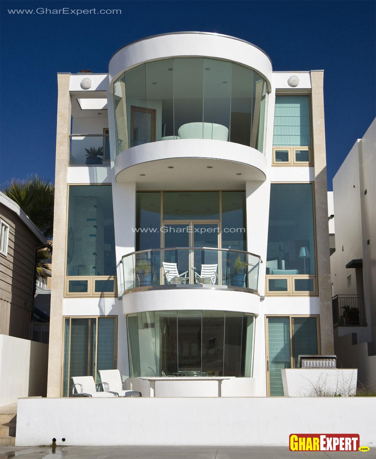 3 storey curved balconies exte....