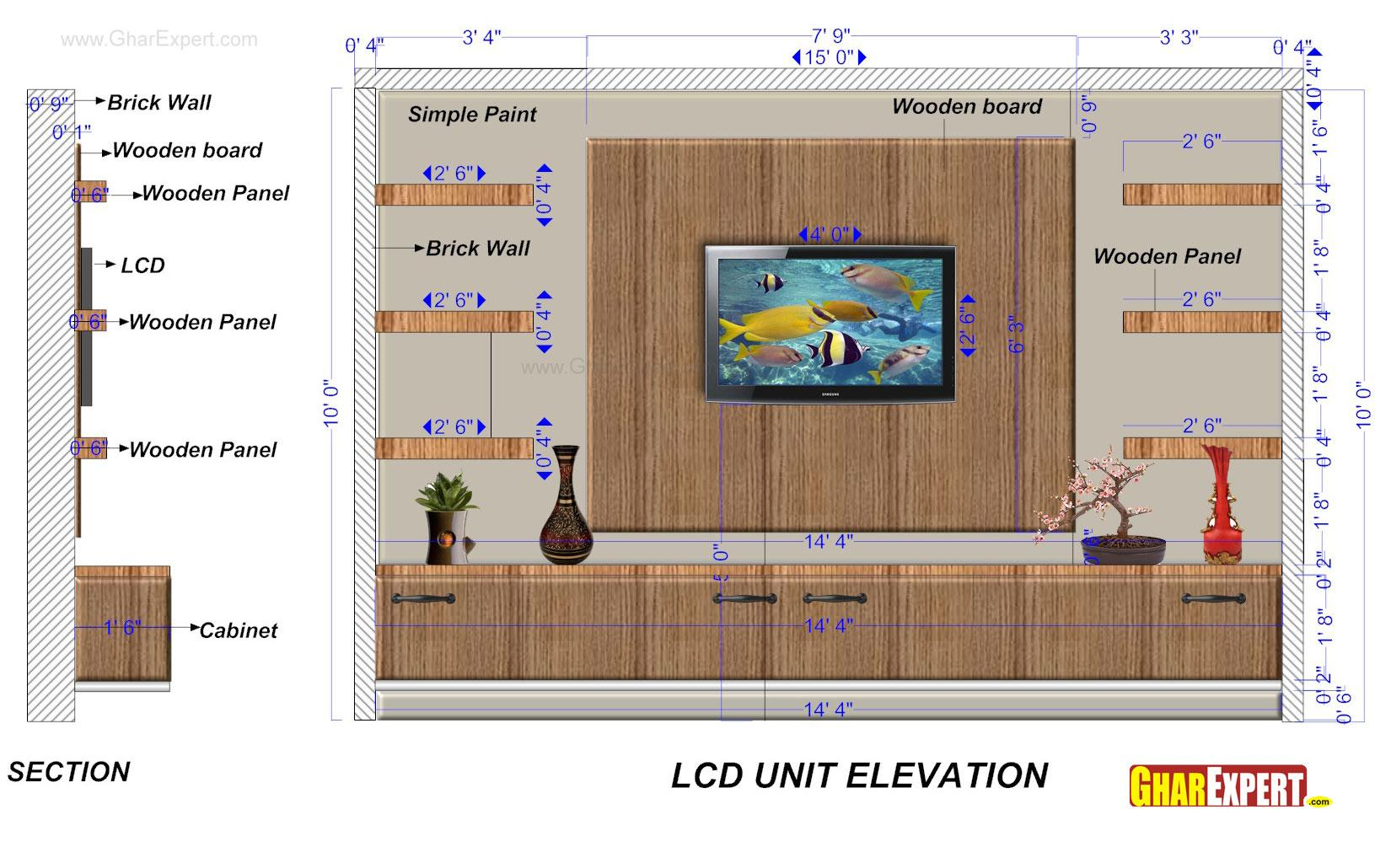 LCD Unit of 15 Feet Wide and 1....
