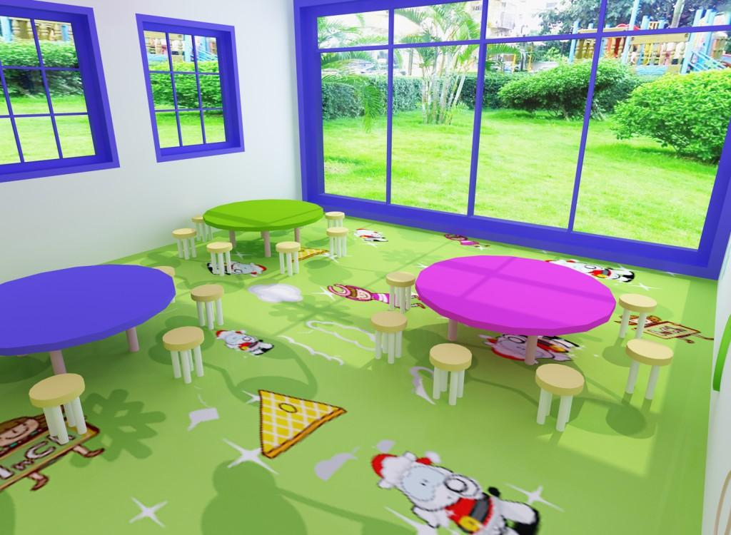PVC flooring for room in play ....