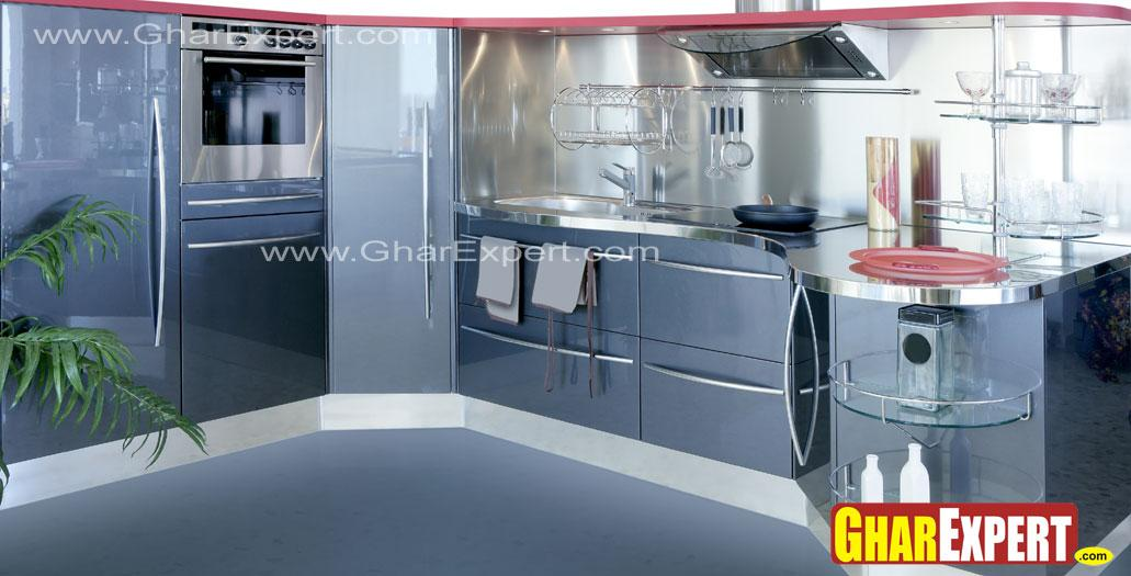 kitchen in modern look with si....