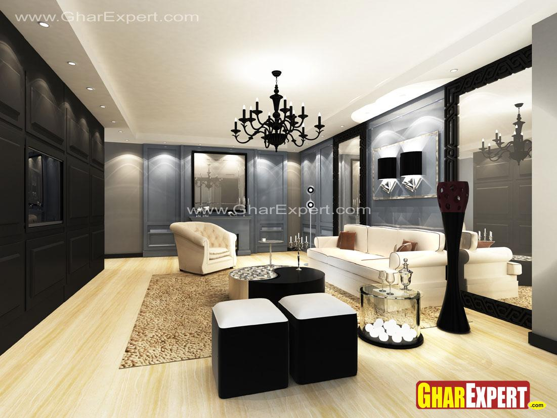 Ultra Rich living room in larg....
