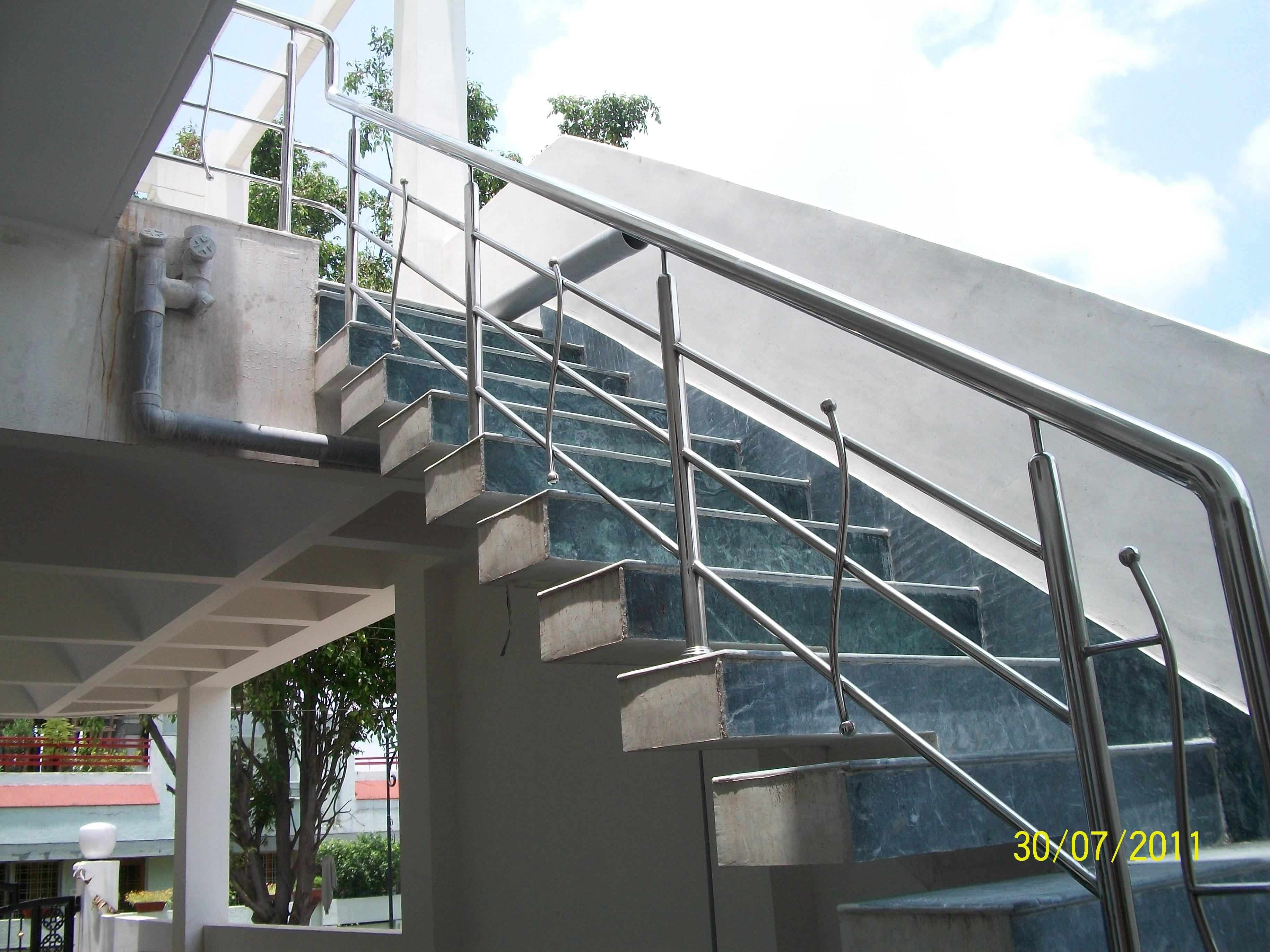 Green marble on Exterior Stair....