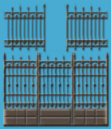 iron fence and gates