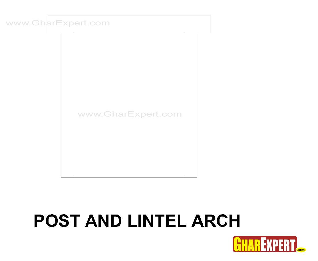 Post and lintel arch