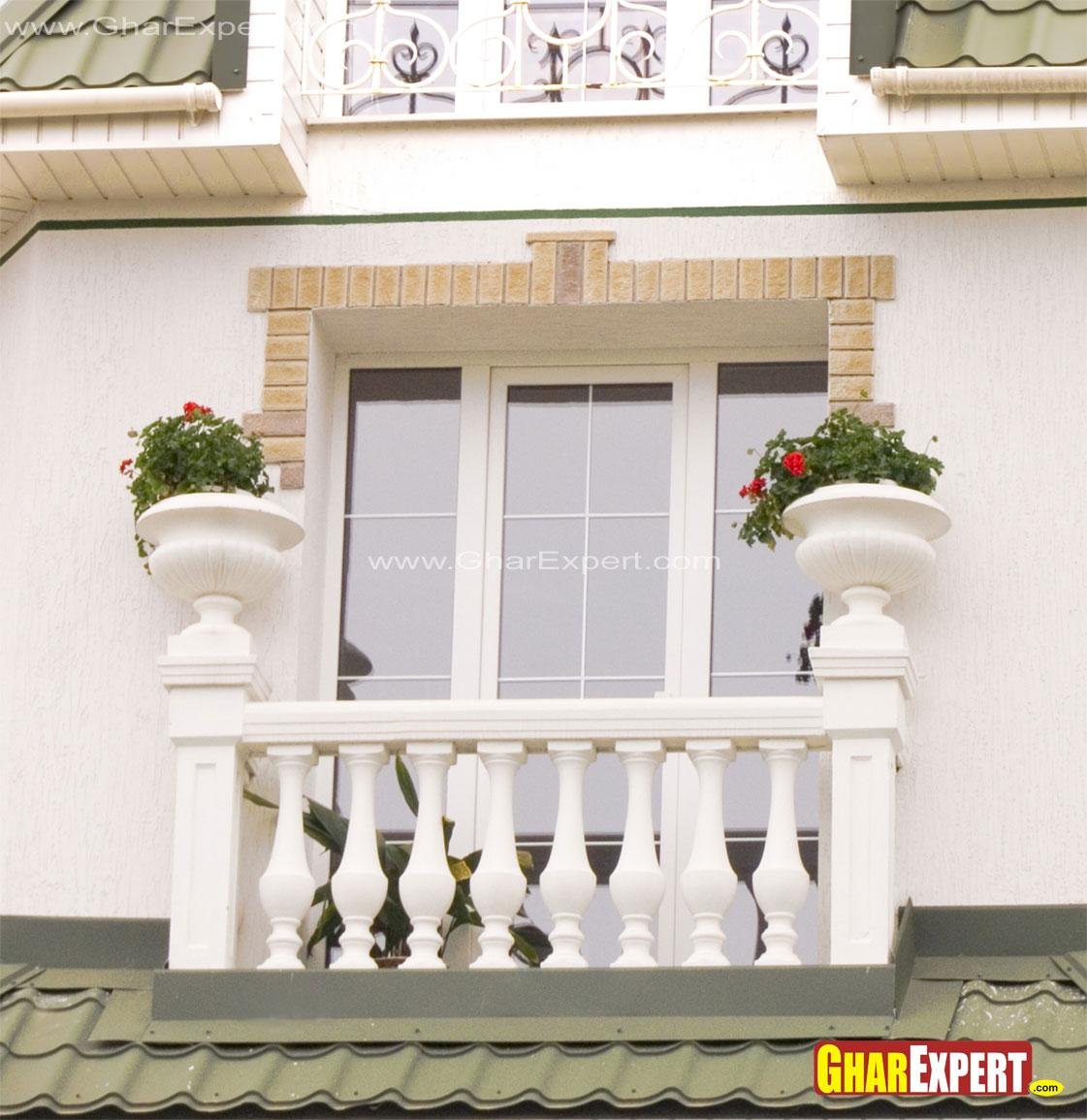 French Balcony with planters i....