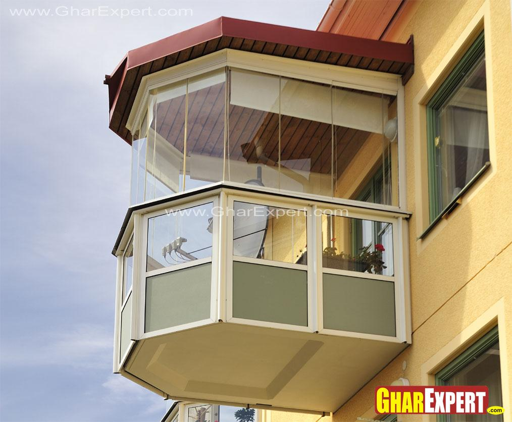 Projected covered balcony used....