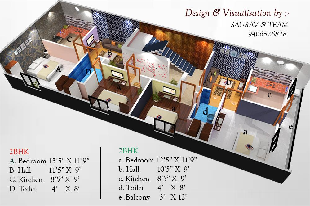 House Plan for 22 Feet by 60 F....