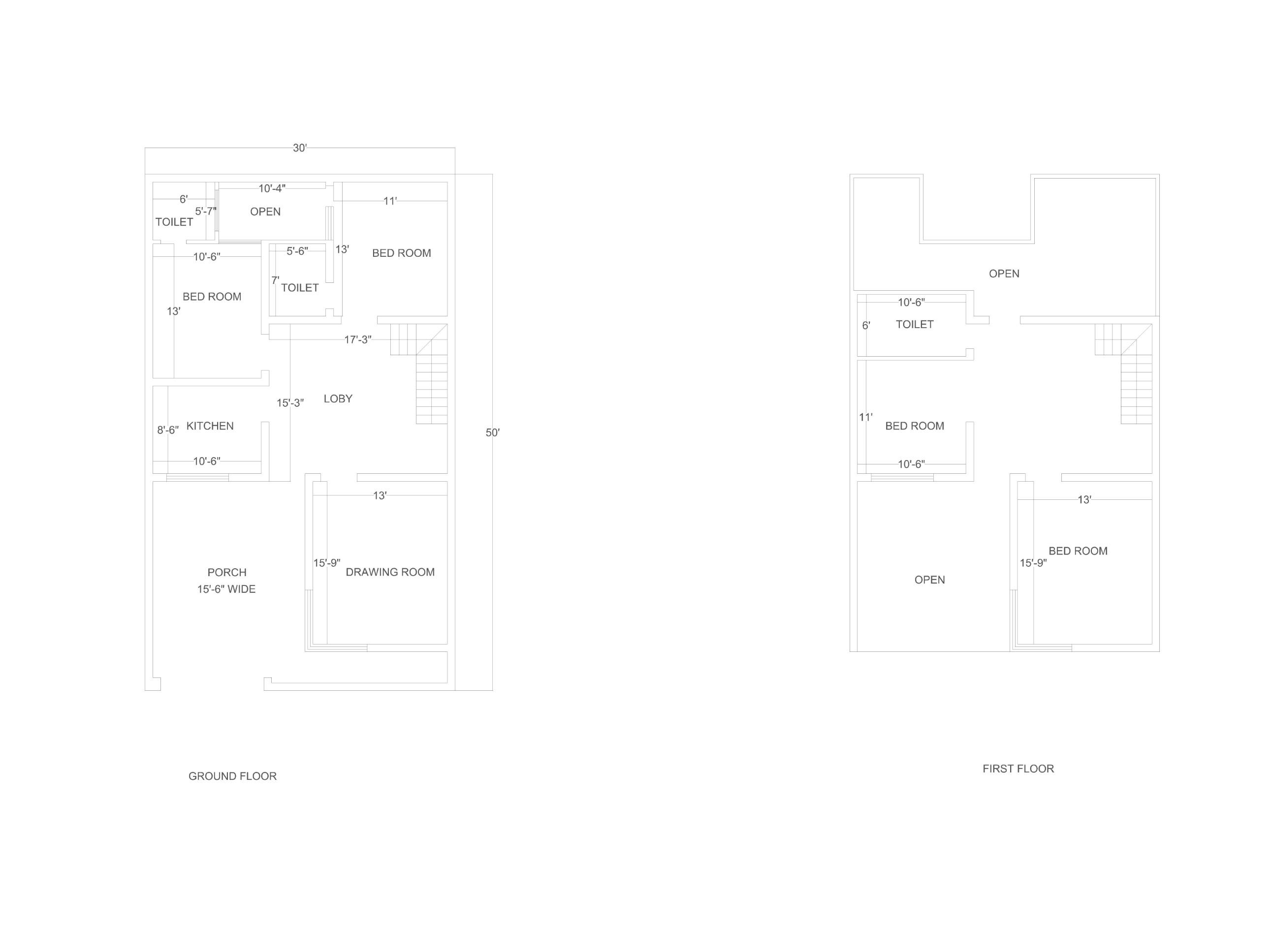 Home planing 30 ft * 50 ft