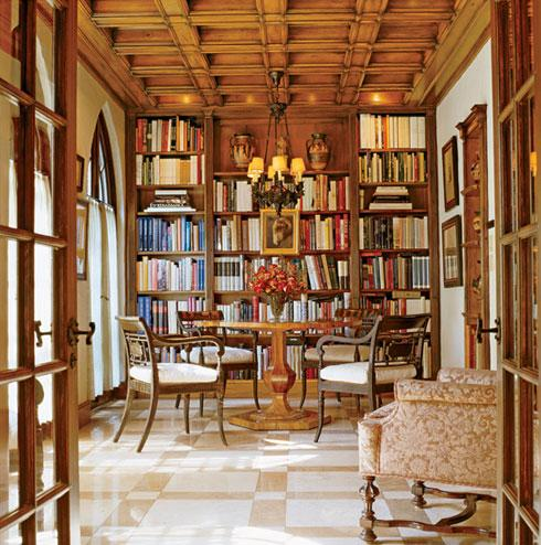 a library at home