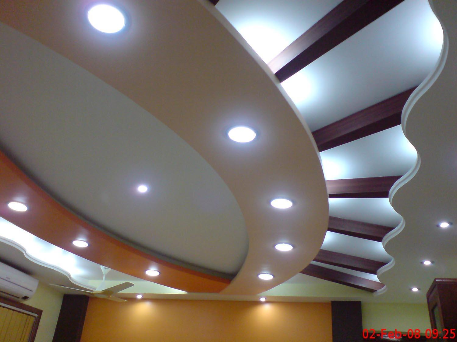 Stylish ceiling design with li....