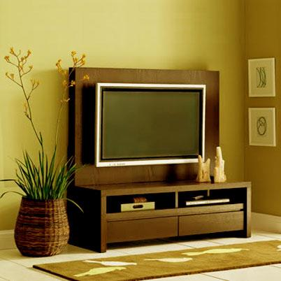 flat tv stand with back panel