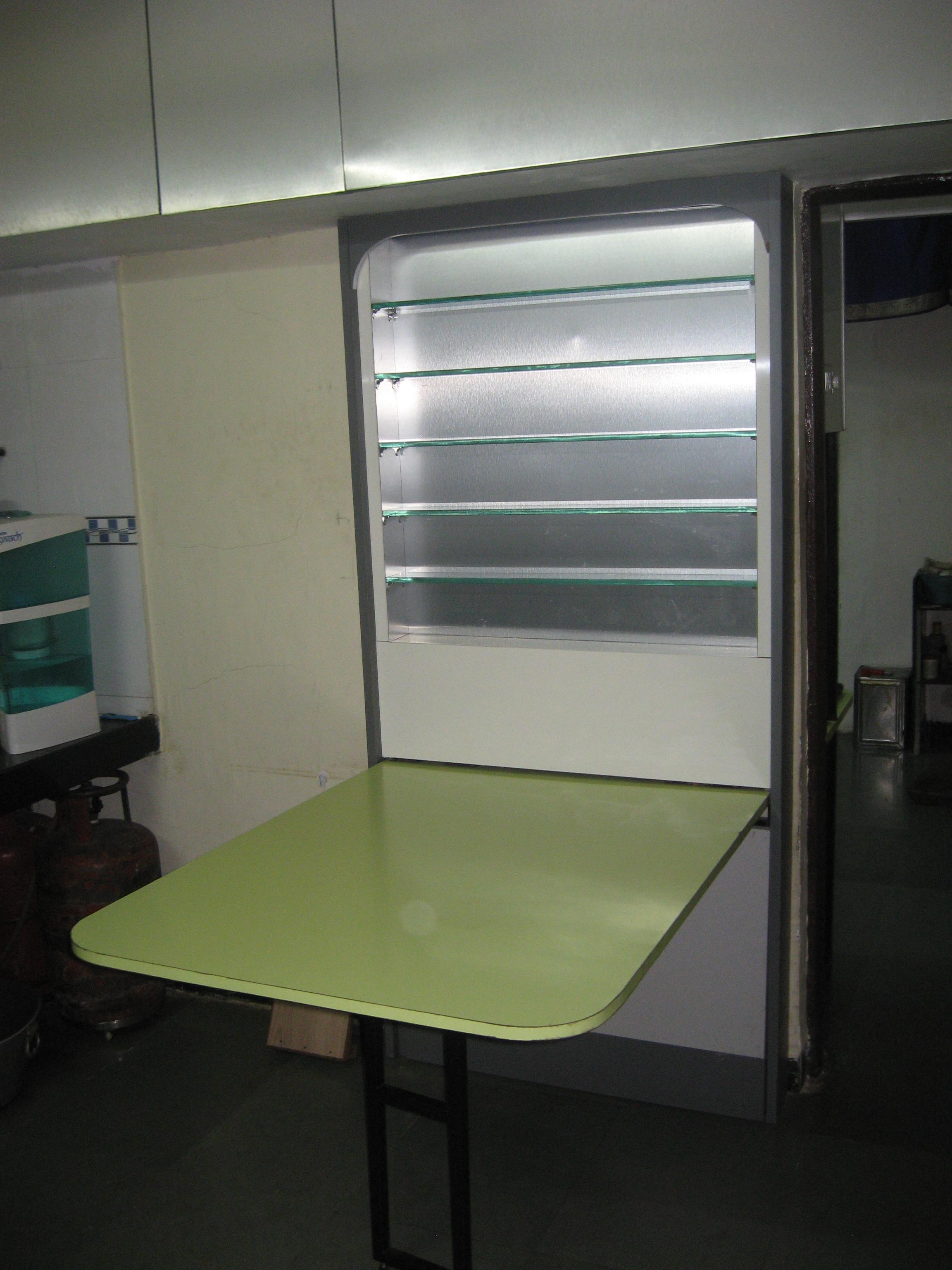 Folding dining table for small....