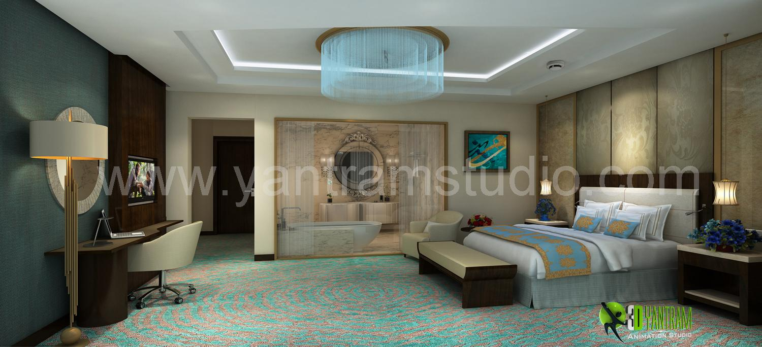 3D Interior Cgi Design for Hot....