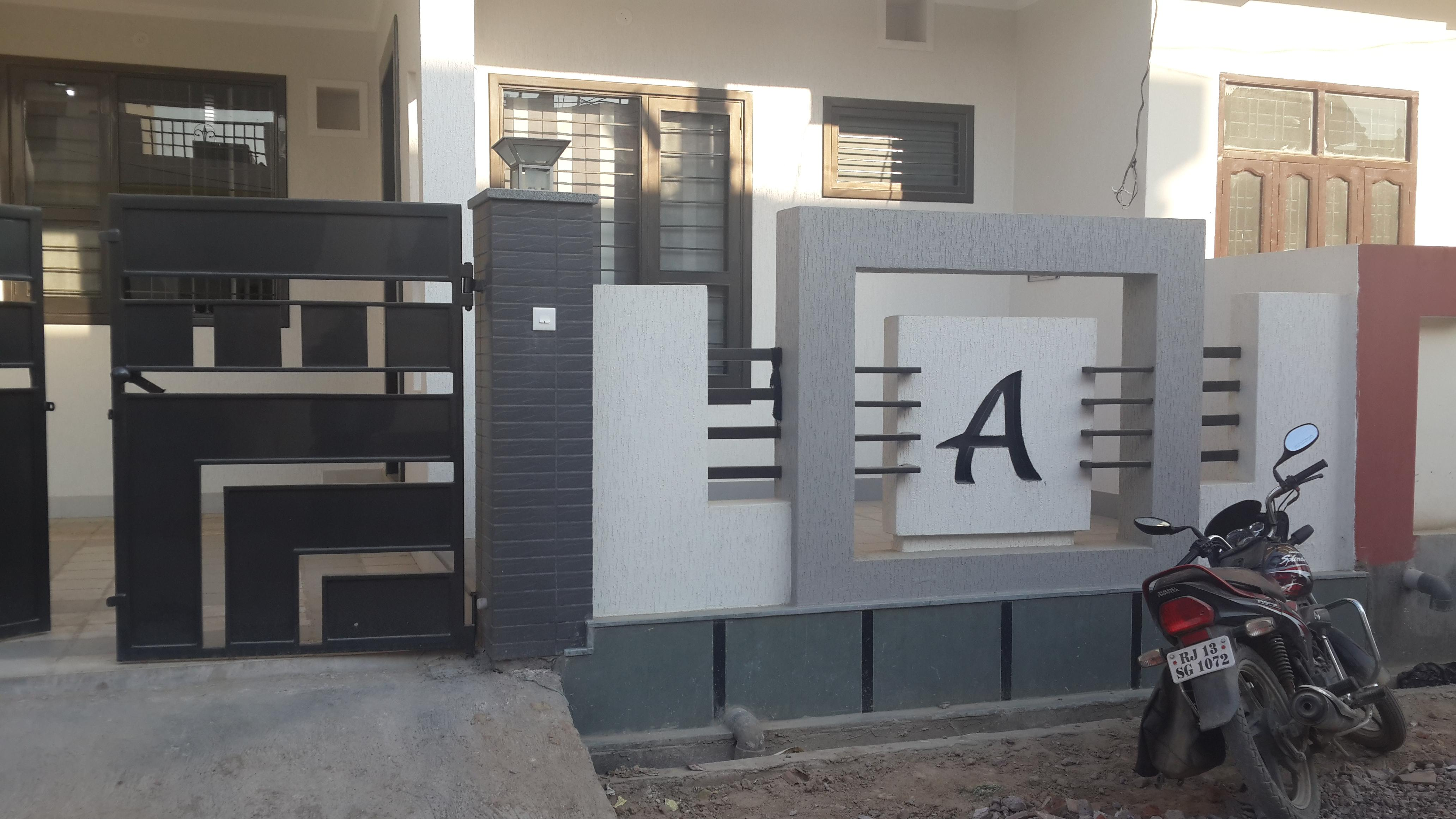 front house Boundary walls