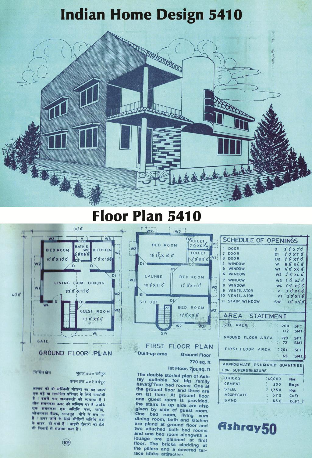 Indian Home 5410 with floor pl....