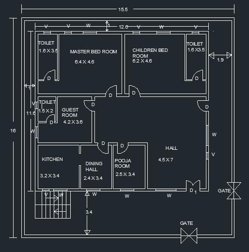 One Storey Residential Buildin....
