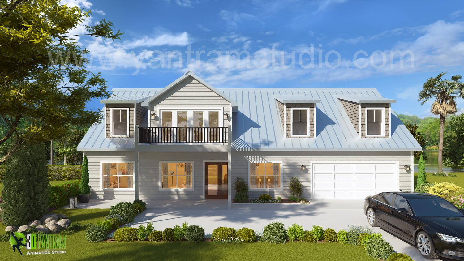 3D Exterior House Design and R....