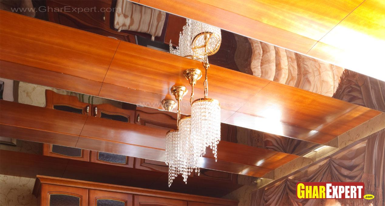 Small chandelier hanged on str....