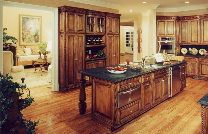 Rustic style kitchen cabinets ....