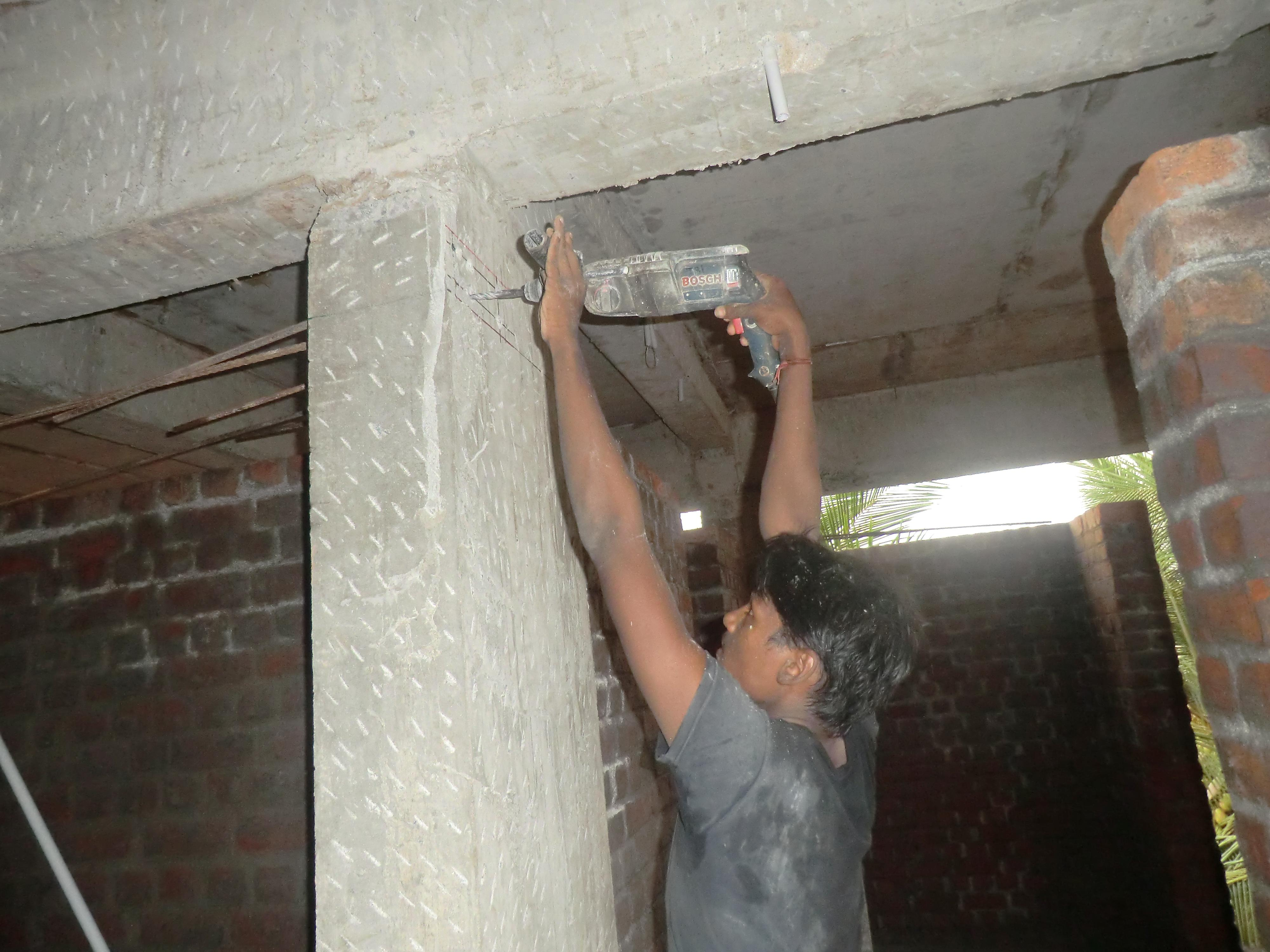 Rebar fixing/grouting work for....