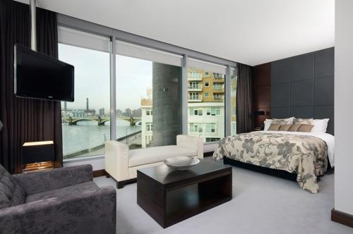 Dream bedroom with large windo....
