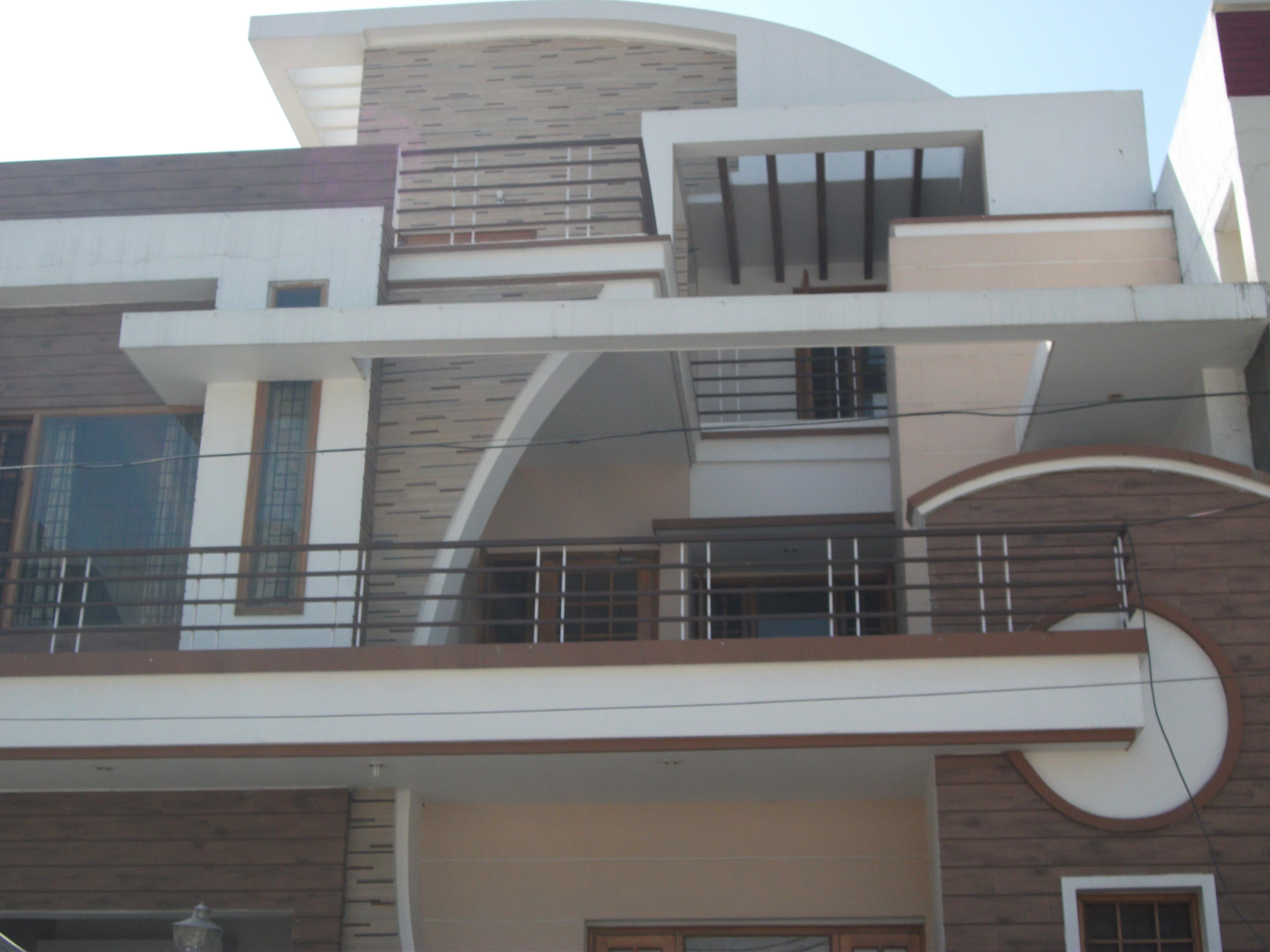 home elevation design with cur....