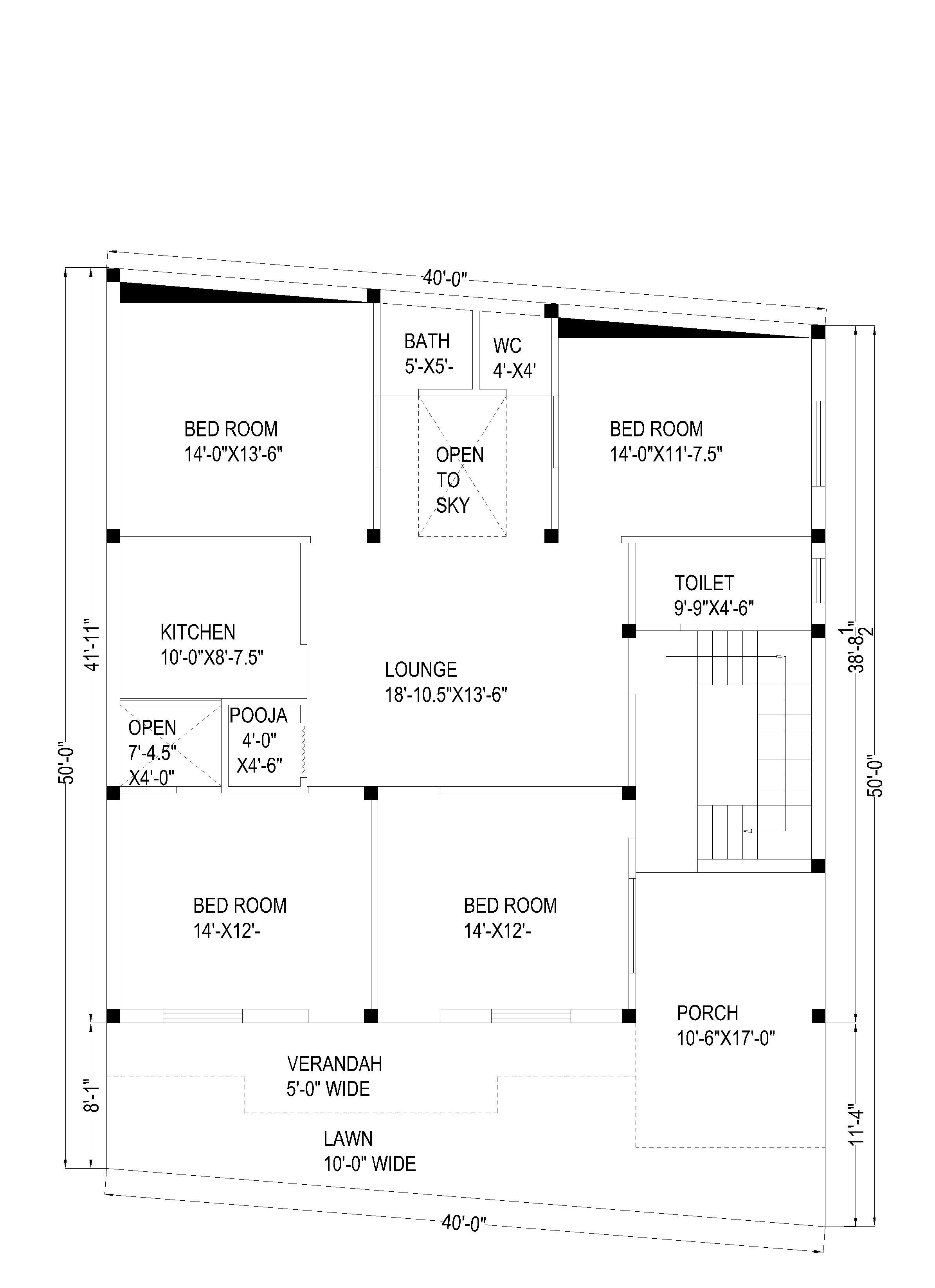 house plan for 40X60
